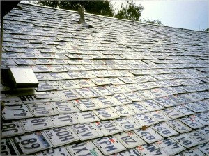 License plate roof